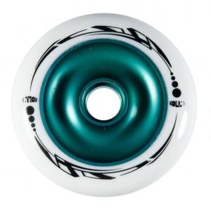 Roues trottinettes métal core vert/blanche