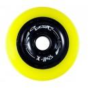 Roues de trottinettes métal jaune/noir