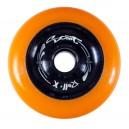 Roues de trottinettes métal orange/noir